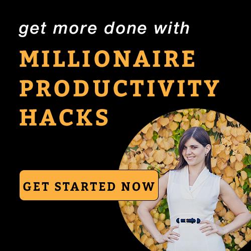 Millionaire Productive Hacks Sidebar