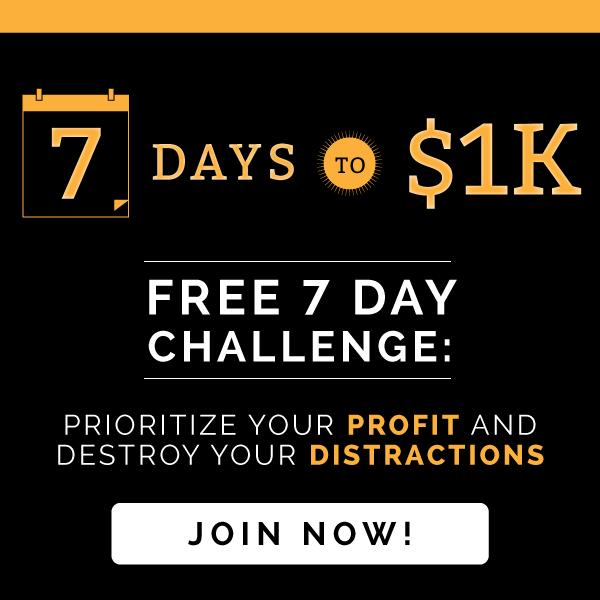 7 Days to $1K Challenge
