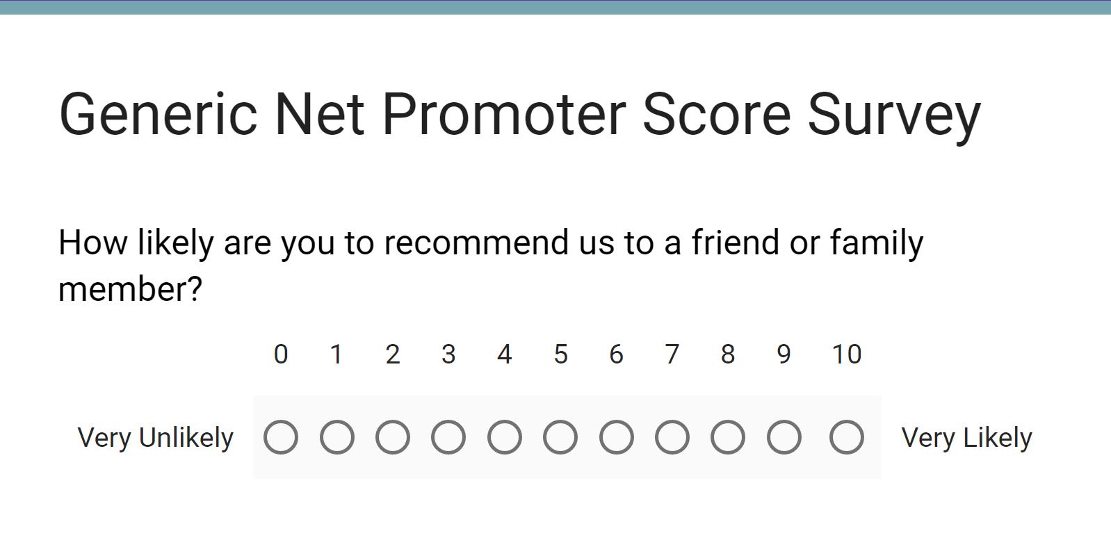 Generic Net Promoter Score Survey