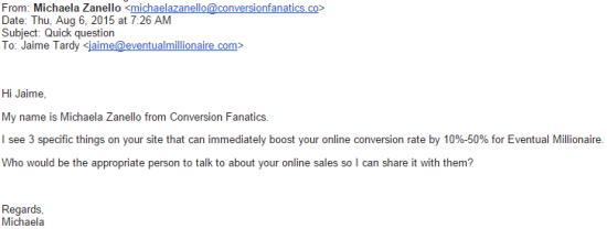 email from conversion fanatics