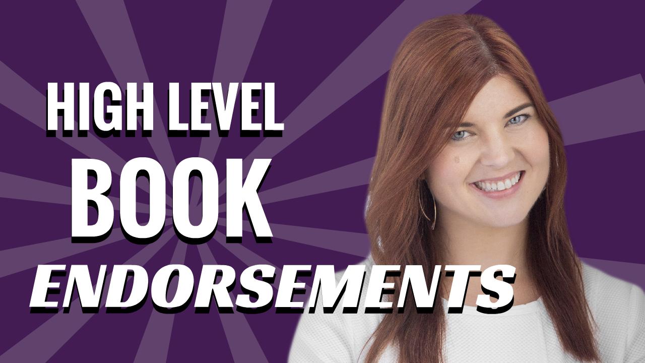High Level Book Endorsements